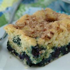 Skinny Blueberry-Lemon Coffee Cake