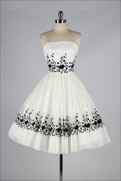 vintage 1950s dress . ivory chiffon by millstreetvintage on Etsy