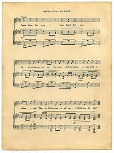 Printable Vintage Christmas and French Music