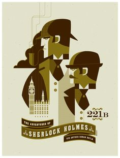 """War of the Worlds & Adventures of Sherlock Holmes by Tom Whalen  By Scott Beale on April 15, 2011    war-of-the-worlds    sherlock-holmes    Tom Whalen created two wonderful screenprints for """"The War of the Worlds"""" and """"The Adventures of Sherlock Holmes"""", both of which will be debuting at the """"Required Reading"""" show which opens April 15th at Gallery 1988 in Los Angele"""