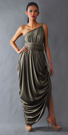 Neat ideas on pinterest togas toga dress and toga costume for Toga style wedding dress