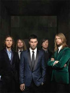 Maroon 5. Seeing them live is on my bucket list! Hoping I don't kick the bucket first!