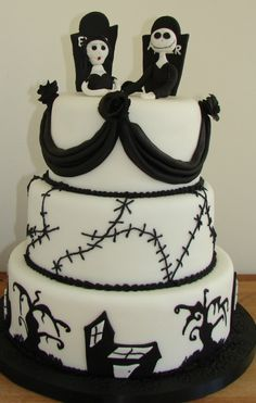 #Halloween #Wedding #Cake