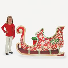 Sleigh Stand-Up - OrientalTrading.com