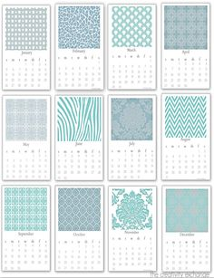 Free printable 2014 desktop calendar that fits into a standard plexi 5 x 7 upright frame.  {The Creativity Exchange}