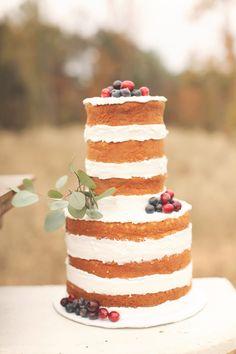 two-tier naked cake - Photography: Brandy Smyth Photography
