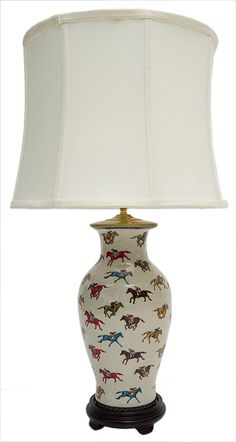 Jockey Porcelain Lamp