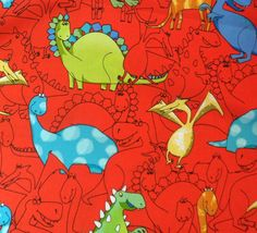 Fabric  Timeless Treasures Dinosour Fabric by KoopsKountryKalico, $8.99