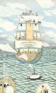 Ships by Victoria Semykina, via Behance