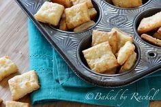 White Cheddar Cheese Crackers - bakedbyrachel.com