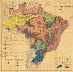 Geological map of Brazil, 1960.