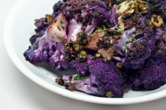 purple, food, cauliflower recipes, paleo, healthi, pizzeria delfina, spici cauliflow, purpl cauliflow, delfina spici