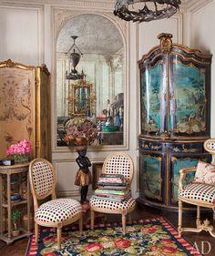 Inside Iris Apfel's NYC apartment.