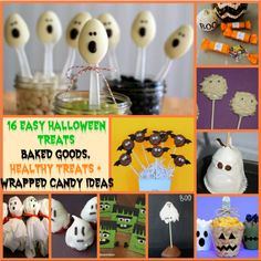 The 16 Best Easy Halloween Treats! There are awesome ideas for school parties, baked goods, and more!