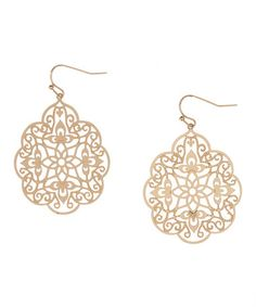 Look what I found on #zulily! Gold Geometric Drop Earrings #zulilyfinds