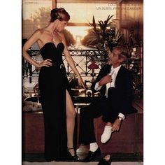 Azzaro gown, Cartier diamonds. Photo by Jean-Daniel Lorieux for L'Officiel, 1976.