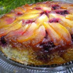 Apple Blackberry Upside Down Cake