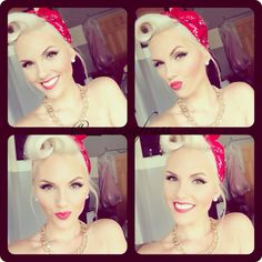 Victory Roll. Love her make up too