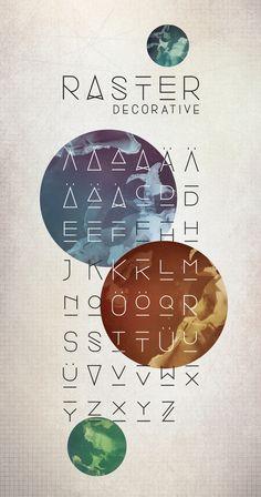 Raster Decorative Typeface