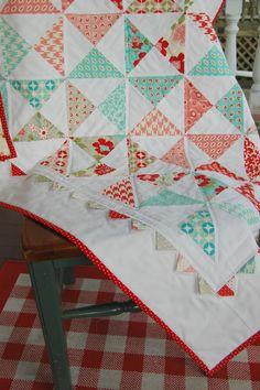 happy little cottage: Pinwheel Quilt Ta-Dah!!!!!
