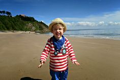 Oliver on Tenby beac