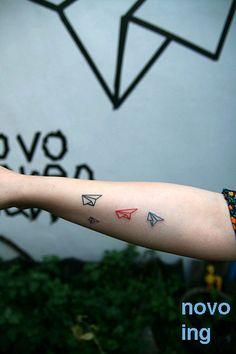 paper plane tattoo #tattoo #ink #tattoos