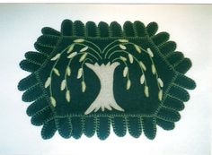 Weeping Willow Penny Rug by acrossgenerations on Etsy, $30.00