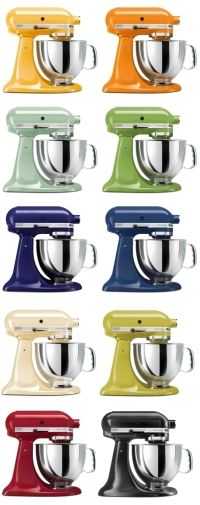 Stand Mixer, every color... Love food.