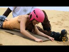 Sandboarding In Swakopmund, Namibia...traveller Sussan Mourad challenges her definition of adventure and survives a wipeout on 'Big Mamma'.