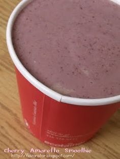 cherry amaretto smoothie. Booze smoothie!