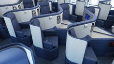 Delta Air Lines Flat-Bed Seating in BusinessElite.