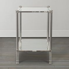 Metro Glass Top Chairside Table