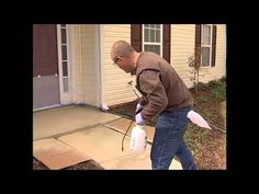 Rustoleum DIY video tutorial on how to stain concrete - from driveways to small garden features