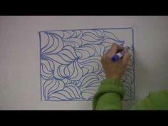▶ Sunflower Quilt Border Quilting Design - YouTube