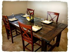 The farmhouse table I made for under $100.