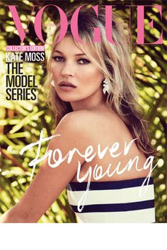 Kate Moss by Patrick Demarchelier on the cover of our July 2013 issue.