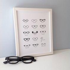 Famous Glasses Print