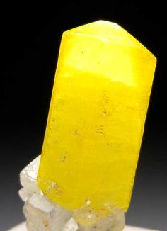 Calcite, looks like a lemon popsicle