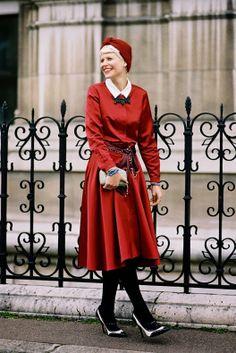 stunning. #ElisaNalin in Paris. #VanessaJackman