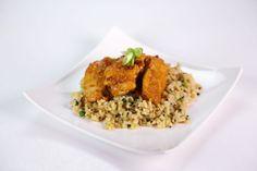 LightenedUp Chicken with Scallion Brown Rice