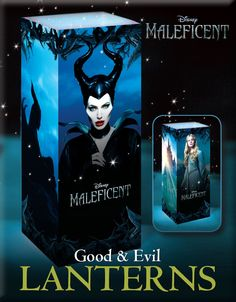 Good Vs Evil Maleficent Lanterns, Perfect For Halloween! http://www.wdistudio.com/MAL/pnt/MAL_lantern.pdf