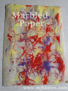 project 23 of 33 : marbled paper.