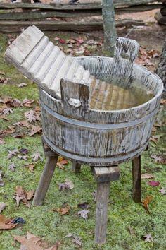 Wooden Outdoor Washtub