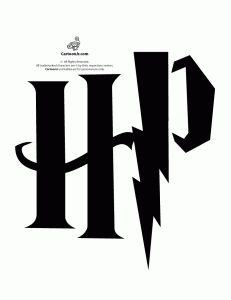 Harry Potter HP Logo Pumpkin Stencil