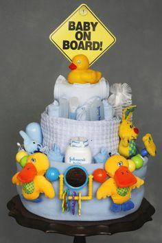 Rubber Ducky Baby Shower diaper Cakes | Diaper Cake / Nappy Cake / Baby Cake