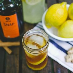 Our clock reads 5 o'clock. The Ginger SNAP Swizzle: 2pts SNAP, 1pt gingersnap simple syrup, 2pts lemonade, 1pt club soda, 6 dashes of bitters.