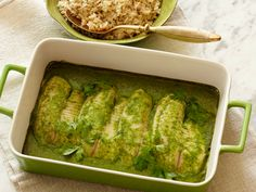 Baked Tilapia With Coconut-Cilantro Sauce from FoodNetwork.com