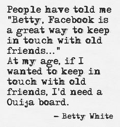 #Facebook quote from @Beth Rubin White
