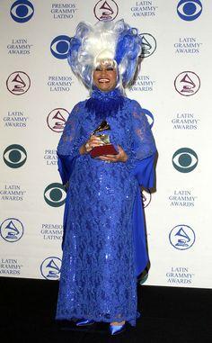 Celia Cruz at the 2002 Latin Grammy Awards!