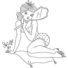 Holding mirror needl pull, mirror, embroidery patterns, art, craft idea, sew pattern, pinterest android, craftsembroideri pattern, pin up girls